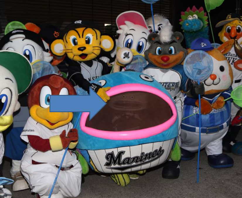 the npb fish mascot was bullied and pulled apart by other mascots at