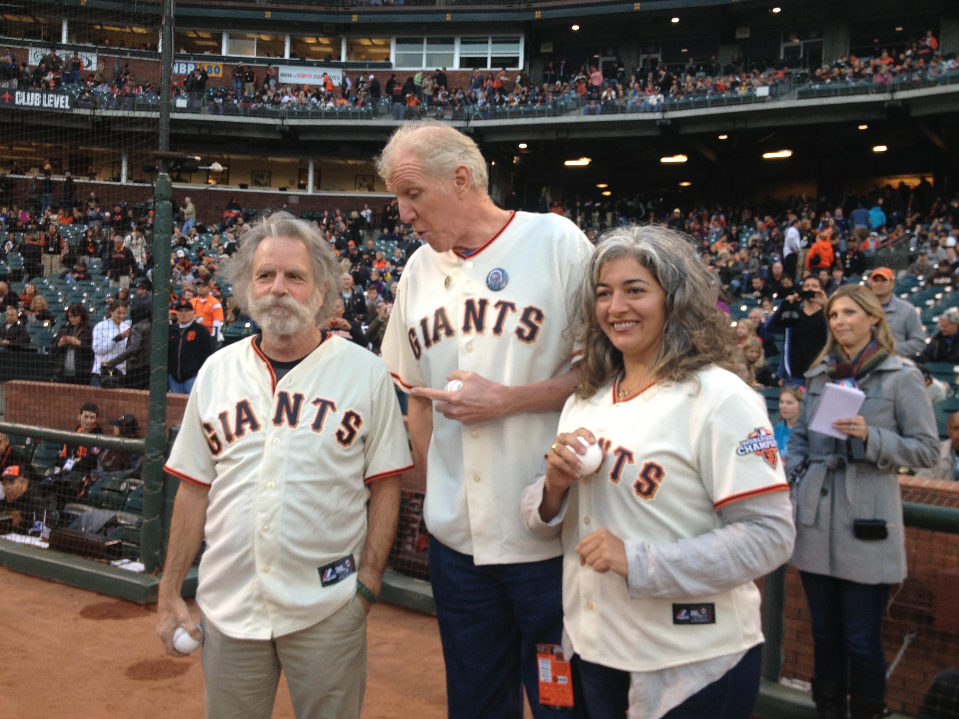 Bill Walton, Bob Weir, Trixie Garcia