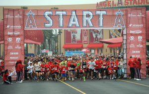 Runners at the Start Line at Angel Stadium