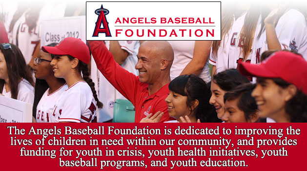 The Angels Baseball Foundation is dedicated to improving the lives of children in need within our community, and provides funding for youth in crisis, youth health initiatives, youth baseball programs, and youth education.