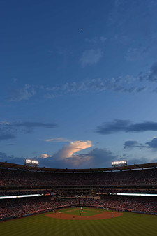Clouds over Angel Stadium