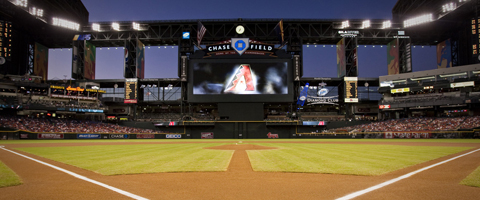 Chase Field de Los Diamondbacks de Arizona