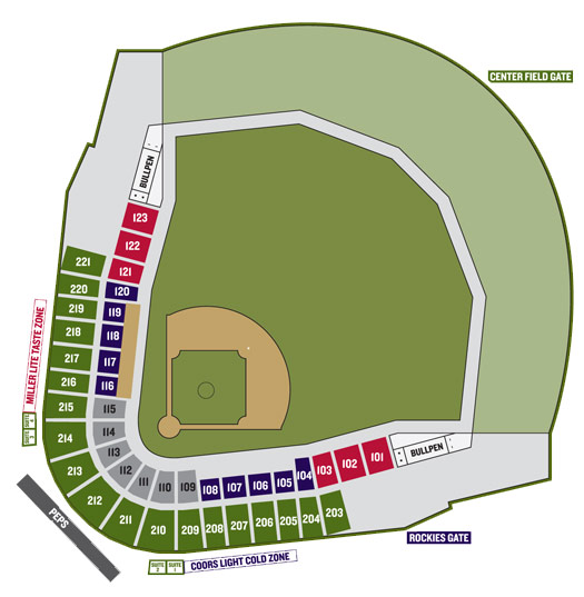 Salt River Field Seating Map