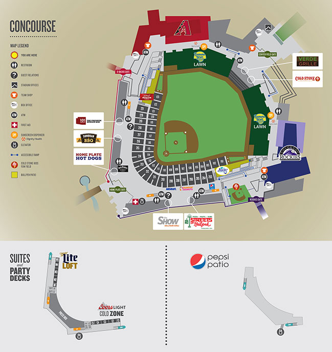 Salt River Fields Concourse Map