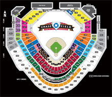 Chase Field Seating Map
