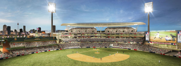 Artists Rendering of 2014 MLB Opening Series