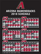 Printable Schedule | Arizona Diamondbacks