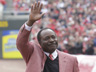 Cincinnati Reds hall-of-fame second baseman Joe Morgan is introduced prior to a major league baseball game, Thursday, March 31, 2011 in Cincinnati. (AP Photo/Al Behrman)