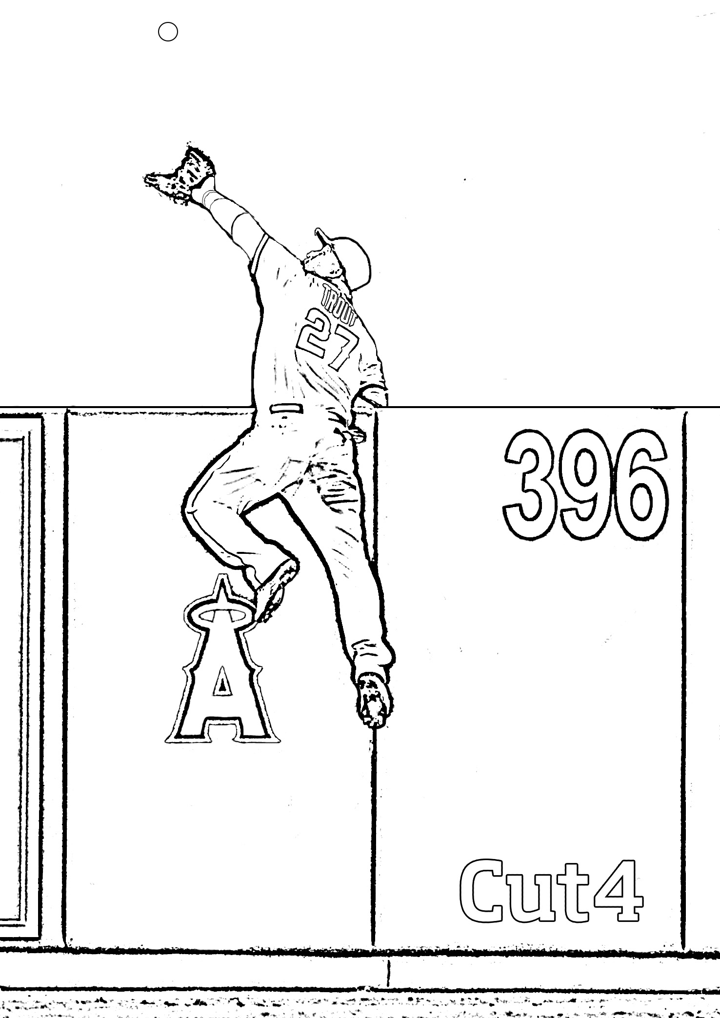 Printable LA Angels coloring book pages MLBcom