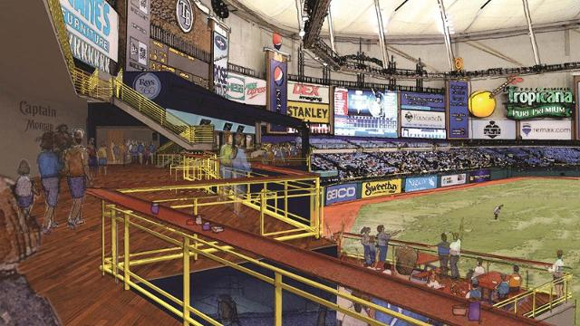 Rays provide glimpse of significant Trop renovations