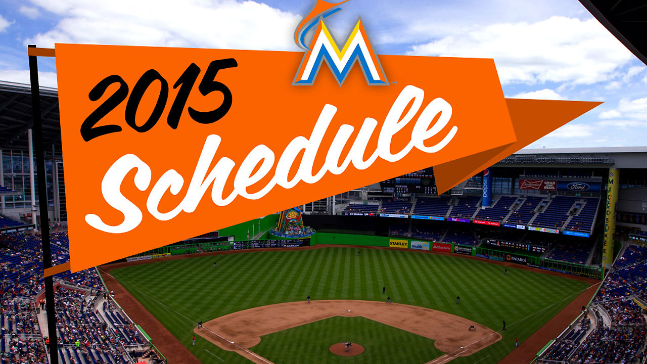 Marlins release schedule for 2015