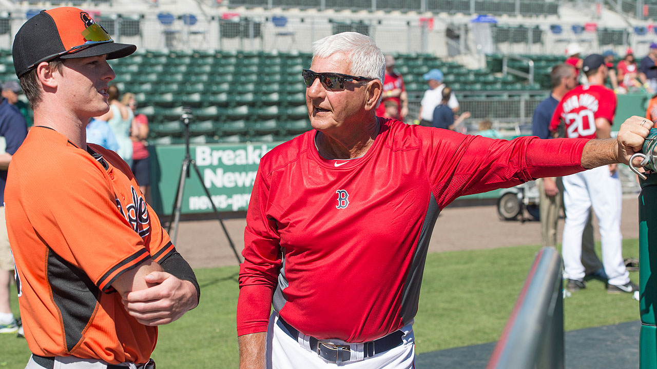 Yaz reunites with grandson in Orioles' system
