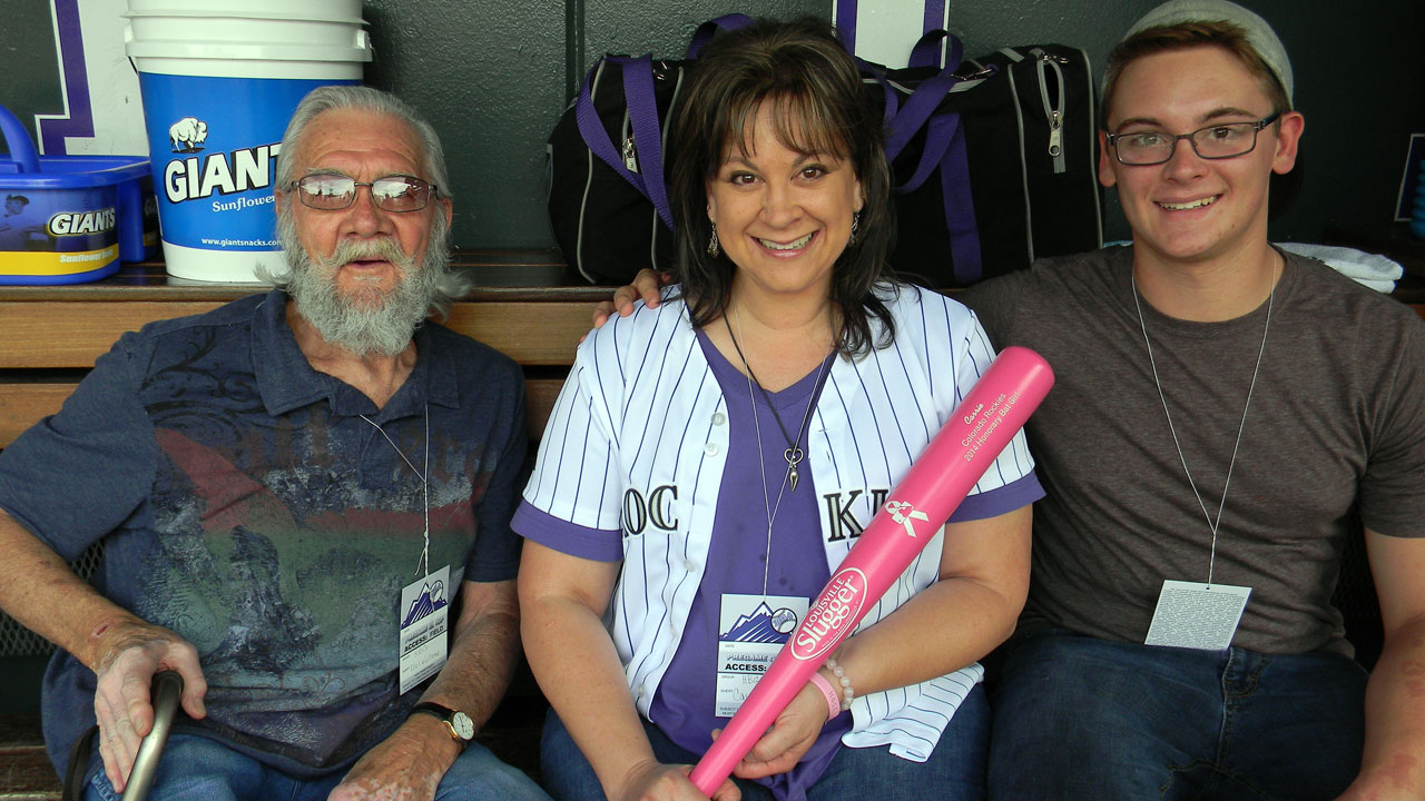 Rockies celebrate Kollmar as Honorary Bat Girl