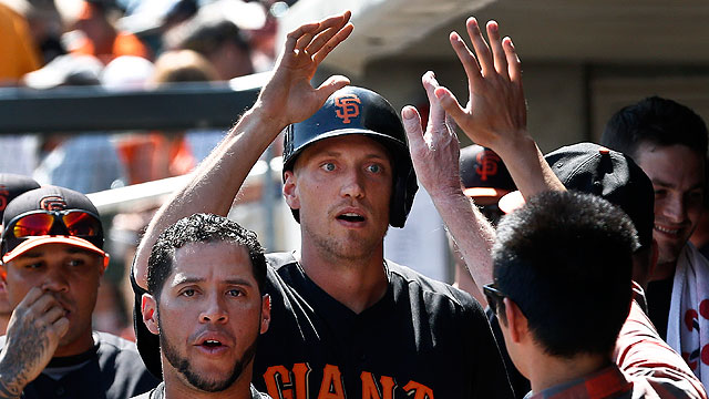 Belt launches two homers as Giants beat Rox
