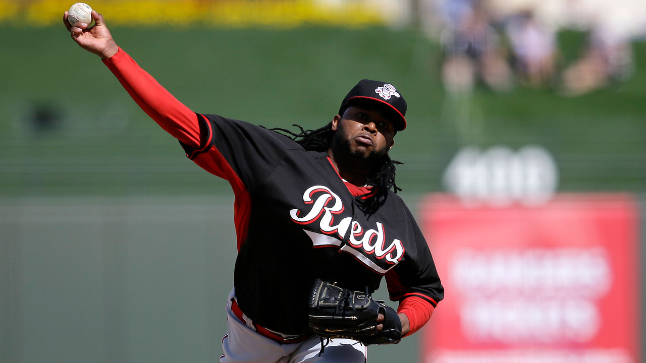 Cueto tosses five solid innings in front of record crowd