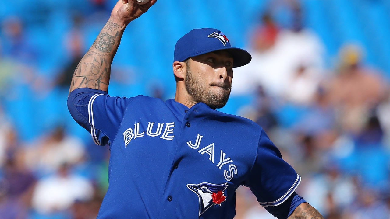 Santos back with Blue Jays; Drabek optioned
