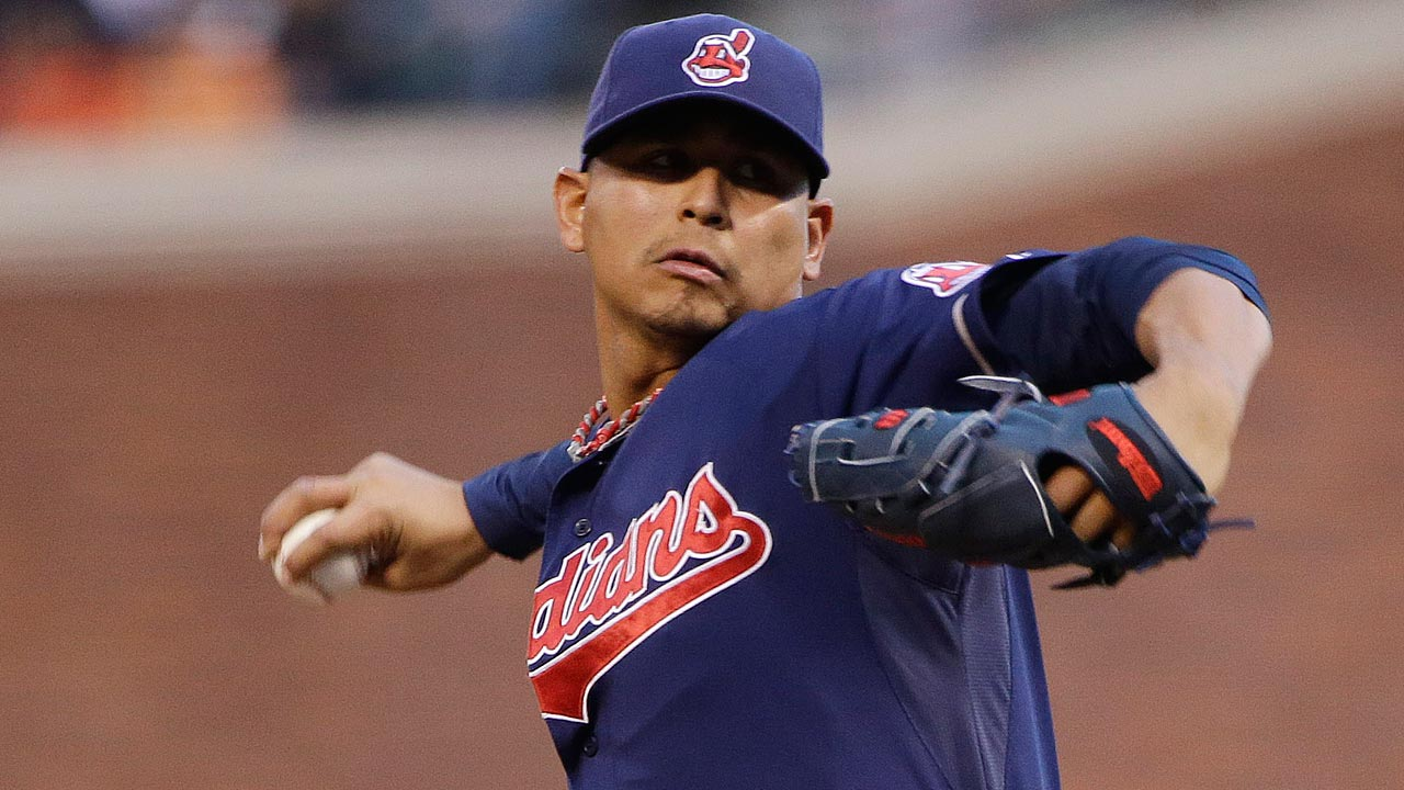 Carrasco letting it loose out of bullpen