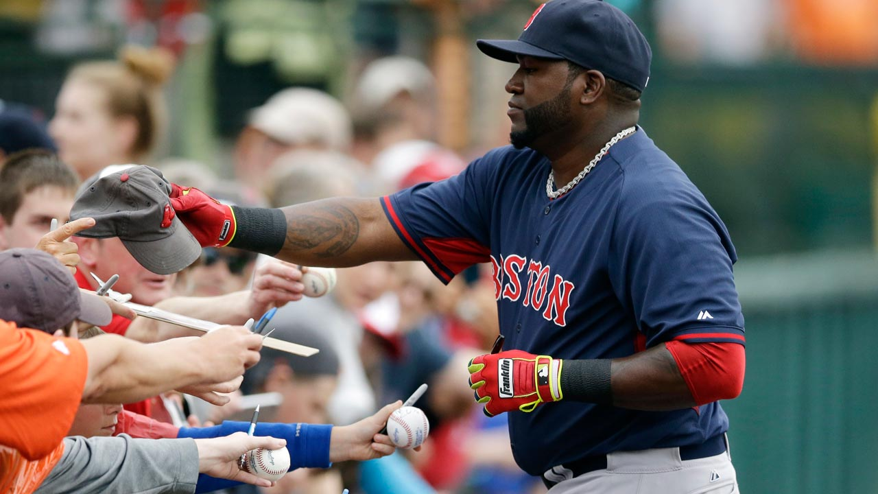 Ortiz, Pedroia headline most popular jerseys