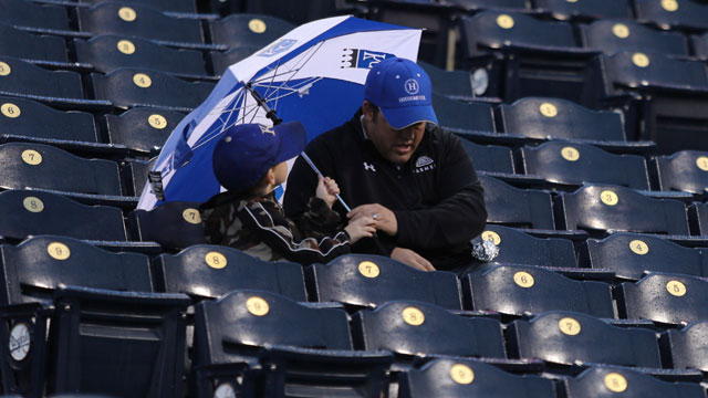 Royals-Indians rained out; twin bill set for Sunday
