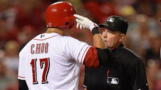 Choo irked by high-and-tight pitch from Corbin