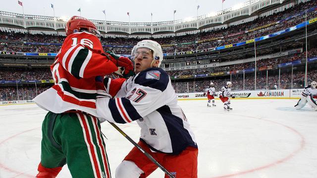 Aura of Yankee Stadium shines on hockey rink