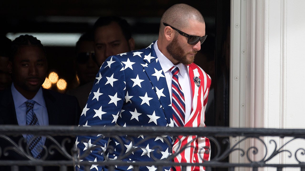 Gomes dons patriotic wardrobe at White House