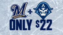 Brewers-Admirals 2-Man Advantage Ticket Package
