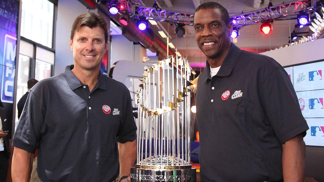 Tino, Doc visit Fan Cave, promote new MLB partnership