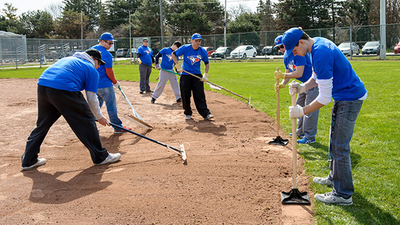 Jays Care Young Professionals do diamond makeover