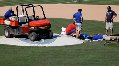 Sinkhole at Rangers Ballpark cancels BP