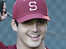 Feb. 14, 2012 photo of Stanford pitcher Mark Appel during NCAA college baseball practice at Stanford University in Palo Alto, Calif. (AP Photo/Paul Sakuma)