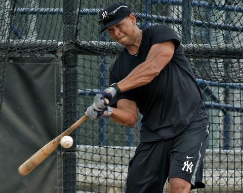 Alex Rodríguez va recuperando poder con el bate