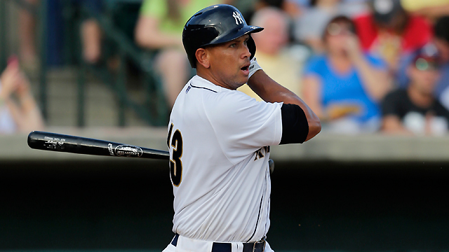 A-Rod sees plenty of action in third rehab game