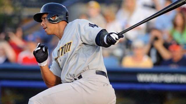 Rehabbing A-Rod to play in Triple-A on Thursday