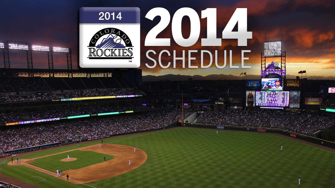 Rockies to start 2014 slate with visit to Miami