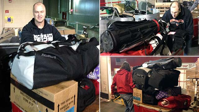 Desert bound: Reds truck loaded for spring camp