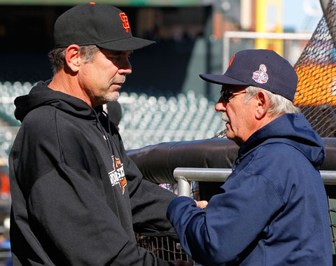 Bochy y Leyland anuncian coaches para el All-Star