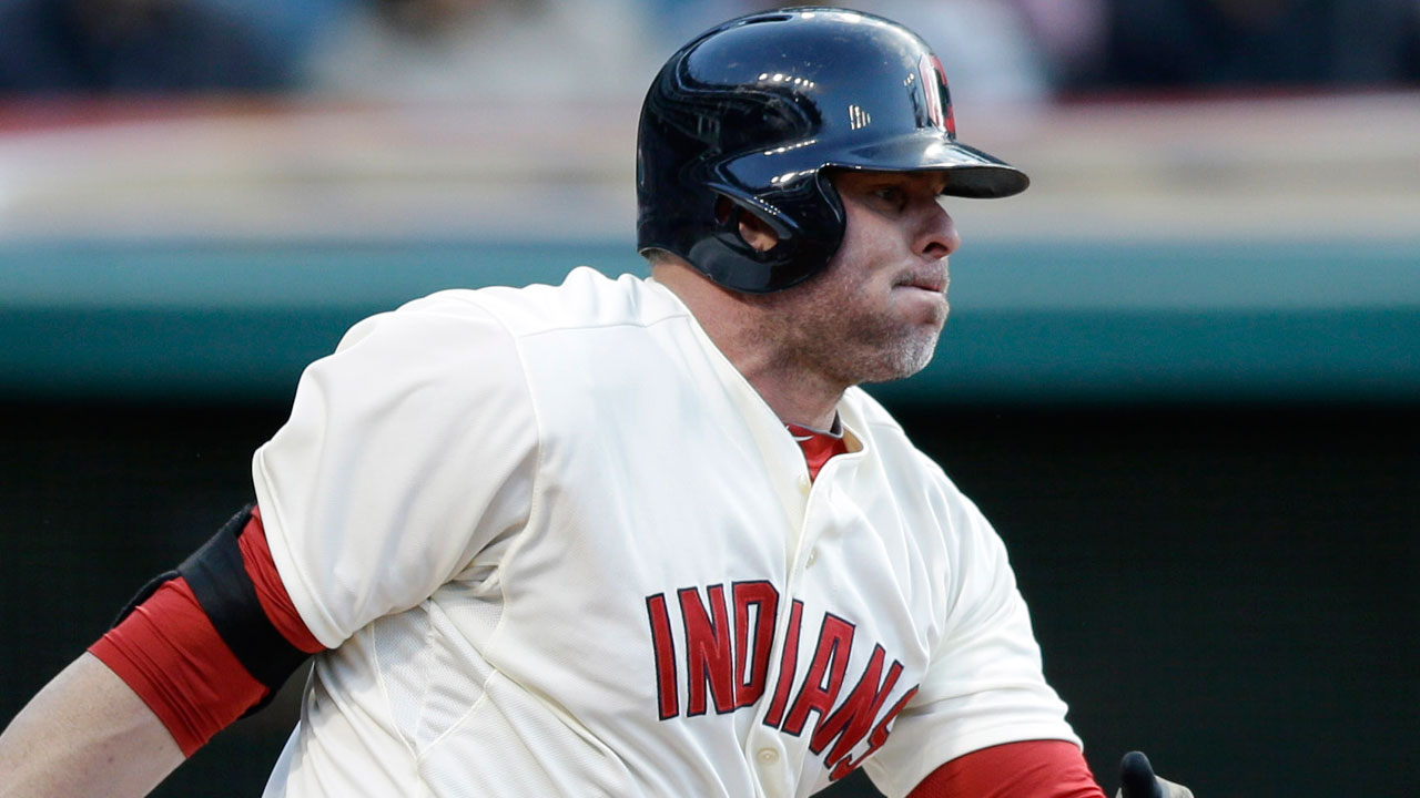 Giambi day to day with right calf cramp