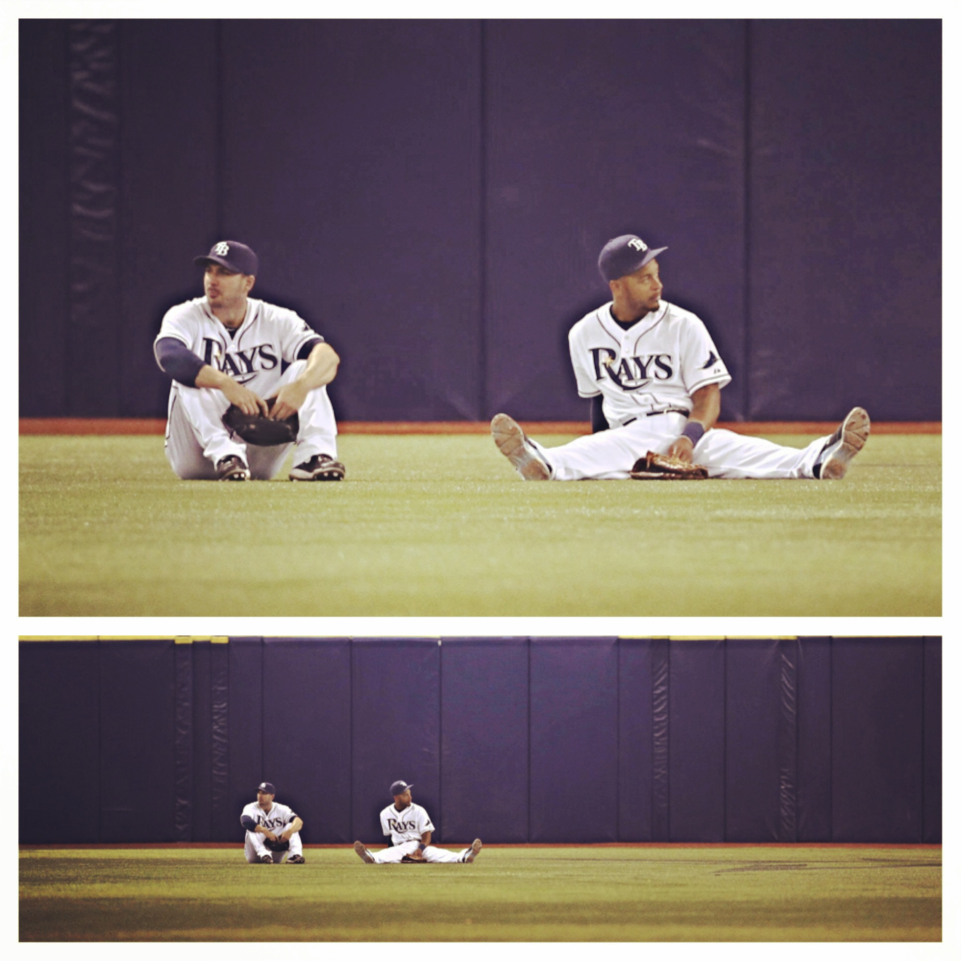 Rays outfielders Looney Tunes