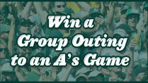 Win a Group Outing to an A's Game