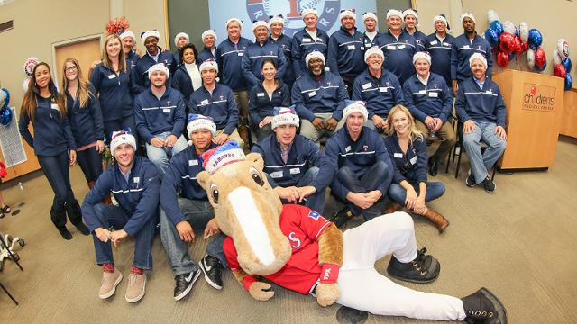 Rangers spread holiday cheer at hospital
