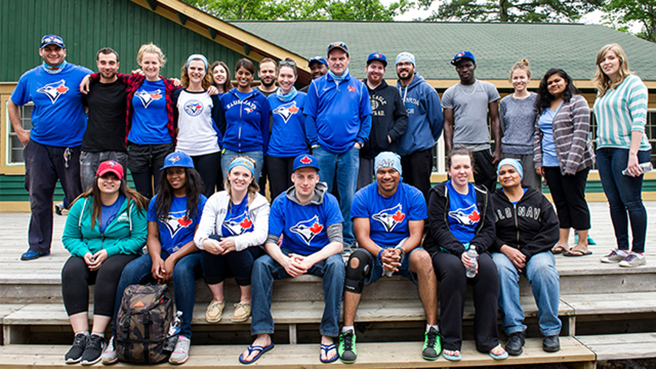 Jays Care crew members give back at Camp Ooch