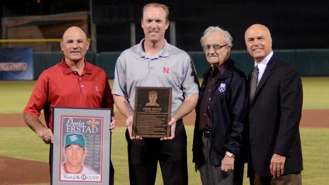 Erstad honored with induction into AFL Hall of Fame