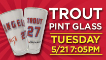 MIKE TROUT PINT GLASS