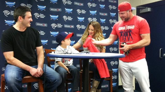 Giambi gets walk-off memento from young fan