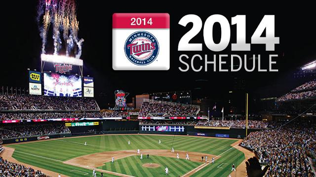 Twins to start 2014 season on road, host ASG