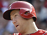 Cincinnati Reds' Todd Frazier bats against the Milwaukee Brewers in a baseball game, Saturday, May 11, 2013, in Cincinnati. (AP Photo/Al Behrman)