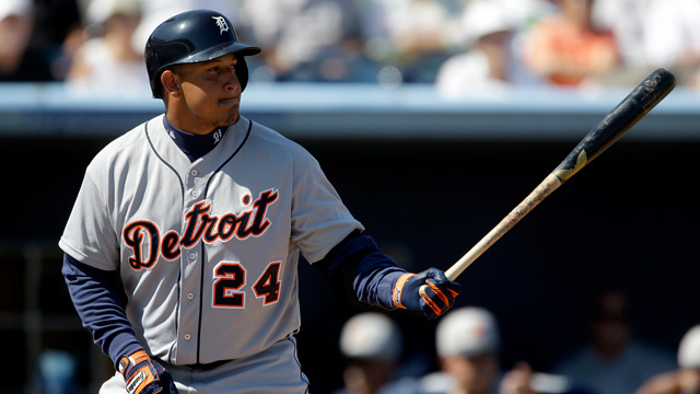 Cabrera homers in first at-bat back from Classic