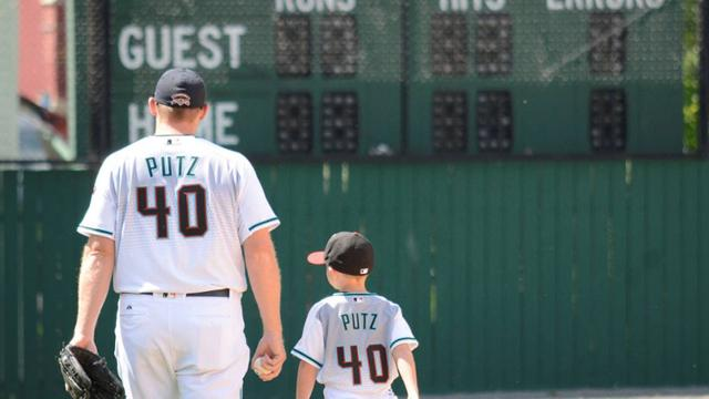 "J.J. Putz: ""Having my little guy with me to share in all this and experience all this, has been something."" (Milo Stewart Jr./National Baseball Hall of Fame)"