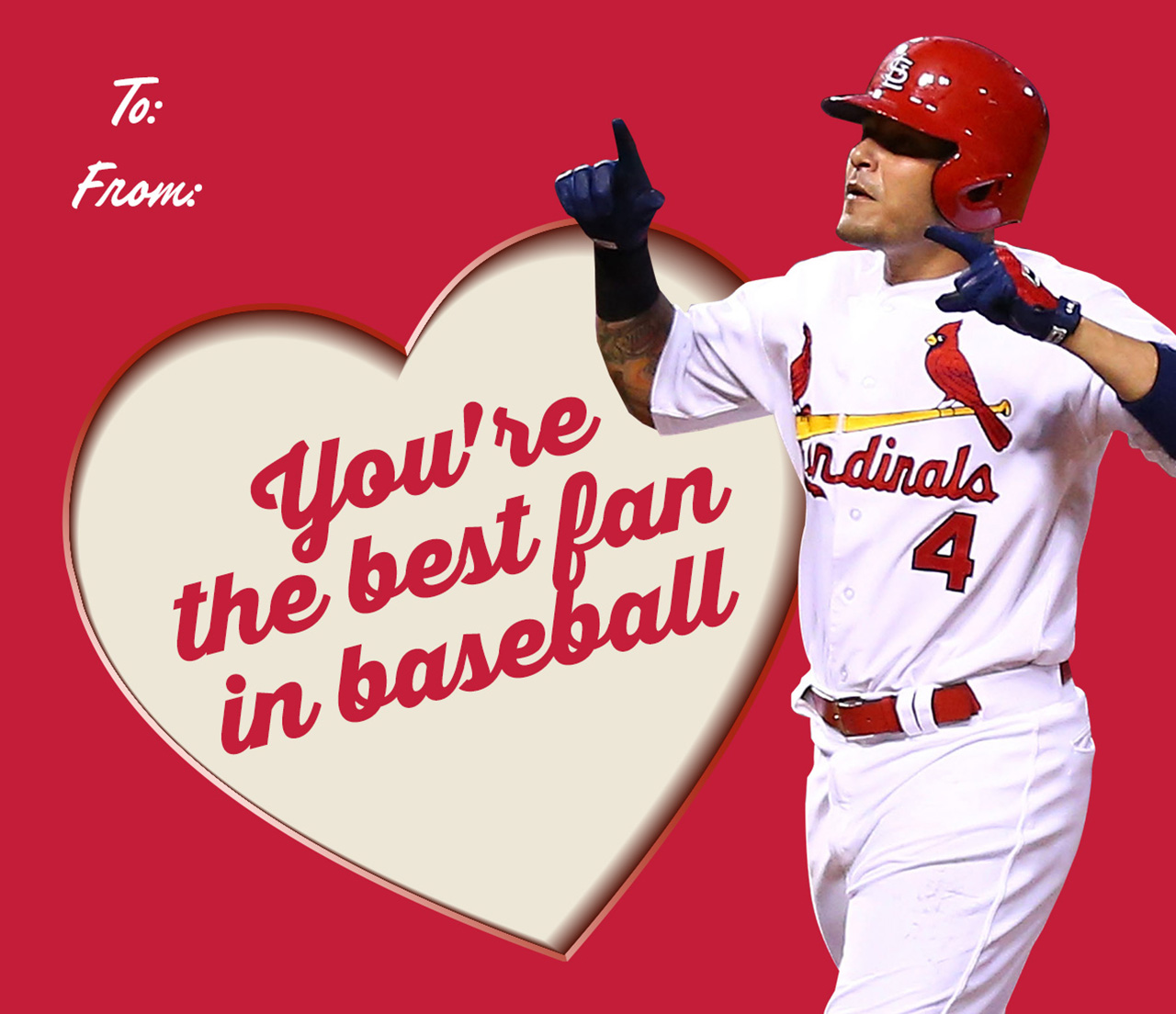 Spring Training Countdown Cardinals Valentines Day Cards